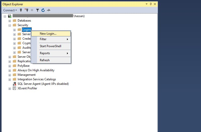 Enable SQL Server Authentication Step 7