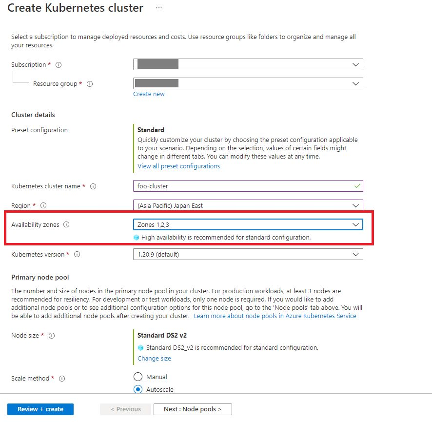 select-availability-zones-during-aks-cluster-creation