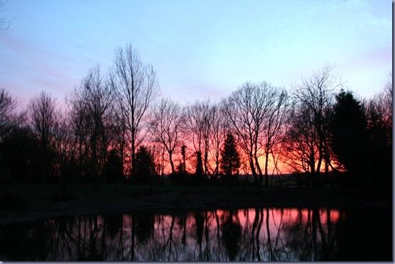Sunset over Essex Village